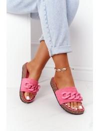 Madingos originalaus dizaino šlepetės Pink Makayla - DZ907-15 M.PEACH