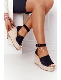 Stilingos elegantiškos basutės su platforma Black Makenna - BL1920 BLACK