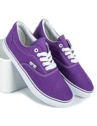 Violetinės spalvos medžiaginiai patogūs bateliai - 086PU