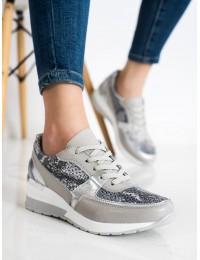 Pilki natūralios spalvos aukštos kokybės batai SNAKE PRINT GOODIN - GD-XF-27G