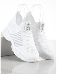 Balti sportinio stiliaus aukštos kokybės moteriški batai - 21TX02-3679W