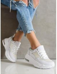 Balti šiuolaikiško dizaino batai su platforma\n - Y592W
