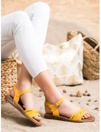 Klasikinio stiliaus geltonos spalvos basutės\n - 20SD14-2065Y