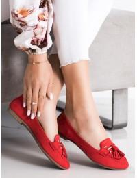 Raudonos spalvos elegantiški bateliai kiekvienai dienai\n - LL6393R