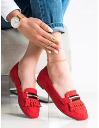 Raudonos spalvos elegantiški mokasinai - 88-381R