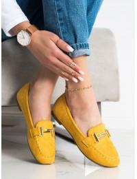 Gražios geltonos spalvos elegantiški mokasinai\n - 88-383Y