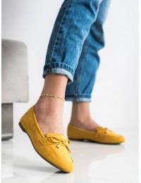 Geltonos spalvos elegantiški mokasinai\n - 88-386Y