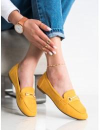Geltonos spalvos elegantiški mokasinai\n - 88-385Y