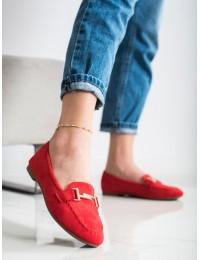 Sodrios raudonos spalvos elegantiški mokasinai\n - 88-383R