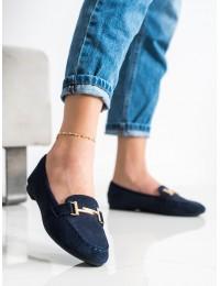Tamsios mėlynos spalvos elegantiški mokasinai\n - 88-383N