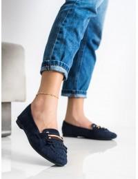 Mėlynos spalvos elegantiški mokasinai\n - 88-381N