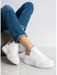Balti stilingi suvarstomi odiniai bateliai\n - MM65PU