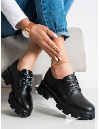 Madingi juodi batai su platforma - BL020B