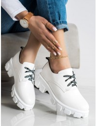 Madingi balti batai su platforma - BL020W