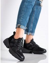 Juodos spalvos aukštos kokybės stilingi batai\n - HS151B
