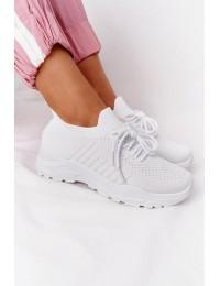 Balti stilingi sportinio stiliaus kokybiški bateliai White Ruler - LA171 WHITE
