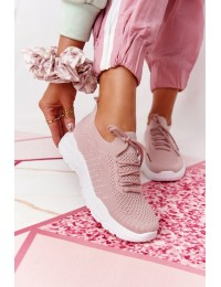 Rožiniai stilingi sportinio stiliaus kokybiški bateliai Pink Ruler - LA171 PINK