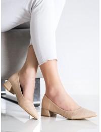 Klasikiniai elegantiški smėlio spalvos bateliai - 3845BE
