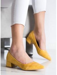 Klasikiniai elegantiški geltonos spalvos bateliai - 3845Y