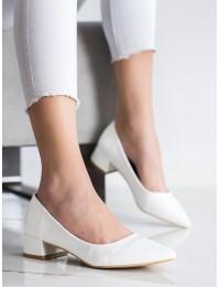 Klasikiniai elegantiški baltos spalvos bateliai - 3845W