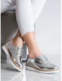 Lakuotos odos elegantiški sidabriniai bateliai - D137S