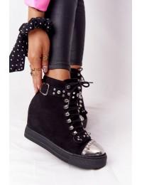 Lu Boo stilingi išskirtinio dizaino batai - XW37348 SUEDE BLK