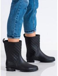 Juodi stilingi ir praktiški guminiai batai - 2283B