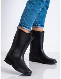 Juodi stilingi ir praktiški guminiai batai - 5831B