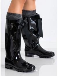 Juodi stilingi ir praktiški guminiai batai - 812B