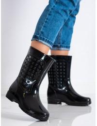 Juodi stilingi ir praktiški guminiai batai - 9291B