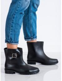 Juodi stilingi ir praktiški guminiai batai - 2295B