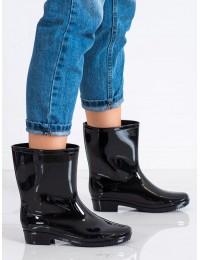 Juodi stilingi ir praktiški guminiai batai - FY-111B