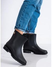 Juodi stilingi ir praktiški guminiai batai - 2287B