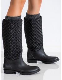 Juodi stilingi ir praktiški guminiai batai - KALOSZE-NE/NE
