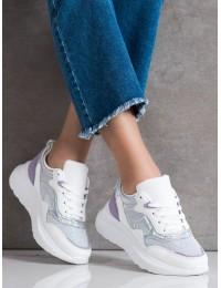 Balti stilingi aukštos kokybės patogūs batai - L8070PU