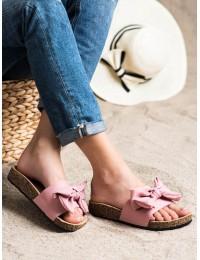 Stilingos vasariškos šlepetės su kaspinu - DZ107P