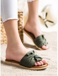 Zomšinės minimalistinio stiliaus šlepetės - YQE21-17122GR