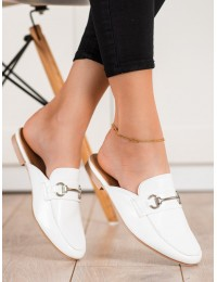 Elegantiškos baltos spalvos šlepetės\n - 713W