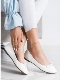 Klasikinio stiliaus elegantiški balti bateliai - 9988-138W
