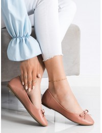 Klasikinio stiliaus elegantiški Nude spalvos bateliai - 9988-138NU