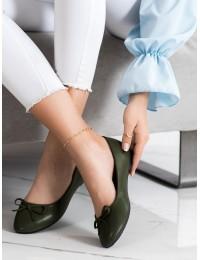 Klasikinio stiliaus elegantiški žali bateliai - 9988-138GR