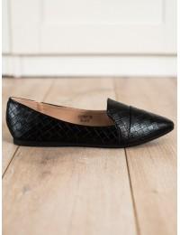 Elegantiški stilingi juodi bateliai - CD78B