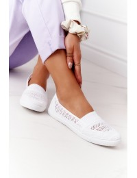Balti patogūs stilingi bateliai White Chillout - CB1711-9 WHITE