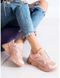 Tamsintos rožinės spalvos stilingi miesto batai - YL-45P