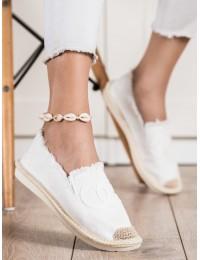 Baltos spalvos stilingi patogūs medžiaginiai bateliai\n - NB273W
