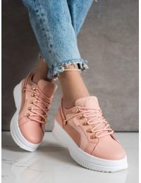 Stilingi rožinės spalvos batai su platforma - LA128P