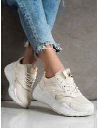 Šviesios smėlio spalvos aukštos kokybės stilingi batai - GB-003BE