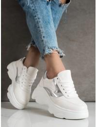 Balti aukštos batai su platforma - NH33W/S