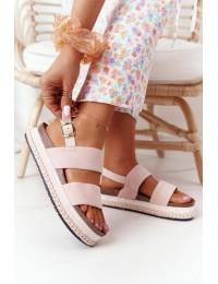 Stilingos zomšinės basutės Pink Olimpia - 7857 PINK