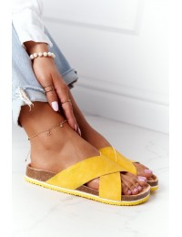 Stilingos ir patogios Big Star aukštos kokybės šlepetės - HH274596 YELLOW